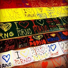 Tons of #handmade #iloveporno #stickers. Friday in the streets!