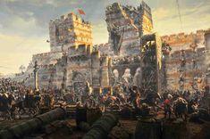La caída de Constantinopla acontenció el 29 de mayo de 1453, cuando el gran cañón otomano abrió brecha en la hasta entonces inquebrantable muralla bizantina