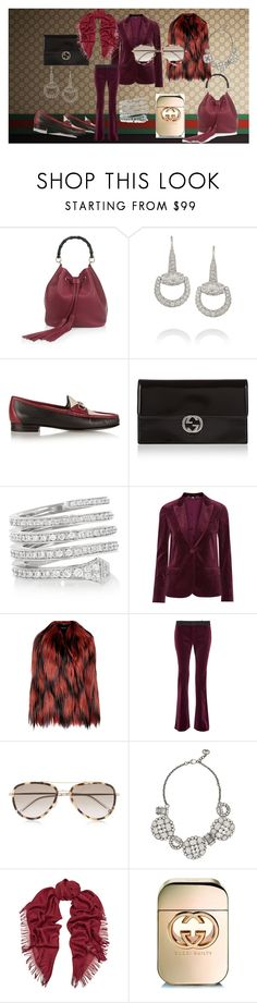 I put this set together for all the girls who love Gucci. It includes a Gucci Oversized goat hair jacket, Gucci Velvet blazer, Gucci Mid-rise velvet flared pants, Gucci Horsebit-detailed color-block leather loafers, Gucci Linea C textured-leather bucket bag, Gucci Icon glossed-leather continental wallet, Gucci Chiodo 18-karat white gold diamond ring, Gucci Palladium-plated Swarovski crystal necklace, Gucci 18-karat white gold diamond horsebit earrings, Gucci Survie wool and silk-blend…