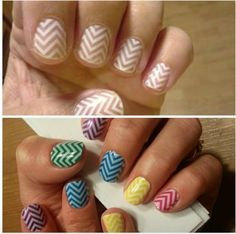 White Chevron alone (clear) and White Chevron (clear) over colored lacquer!! http://ShannonHowell.jamberrynails.net/