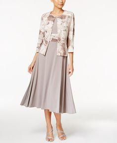 109.00$  Buy here - http://viyhb.justgood.pw/vig/item.php?t=i8bti6q52289 - Petite Empire-Waist Dress & Printed Jacket