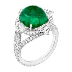 Three Colours of Love Emerald Ring Emerald Jewelry, Gems Jewelry, Diamond Jewelry, Gemstone Jewelry, Jewelery, Fine Jewelry, Emerald Rings, Emerald Diamond, Bling Bling