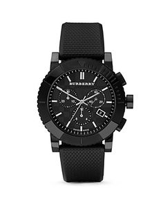 burberry black 3-eye chronograph watch