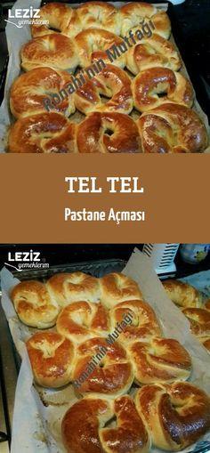 Tel Tel Pastane Açması Turkish Recipes, Crackers, Pasta Recipes, French Toast, Recipies, Food And Drink, Yummy Food, Bread, Cookies