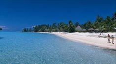 Bora Bora beach (French Polynesia).