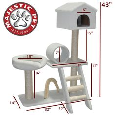 Check out this super cool cat tree that will give your cat hours of enjoyment and help keep them off your furniture!     (http://www.yourcatstree.com/43-bungalow-sherpa-by-majestic-pet-products/)