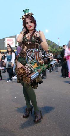 Poison Ivy Stempunk by Erikakyonlee666.deviantart.com on @deviantART
