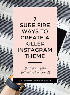 Take a look at my best Instagram tips for bloggers! If you want to learn how to theme your Instagram and grow your followers, you have to take into account photography and inspiration, and make sure everything you post fits your theme. Instagram is one of