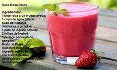 Suco detox rosa