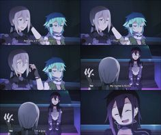 A Guy, there'snothing wrong with being a guy - Sword Art Online ~ DarksideAnime