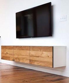 Superbe IKEA Hack. Besta Storage With Timber Front. #ikeahackslivingroomtvstands  Floating Media Cabinet, Floating