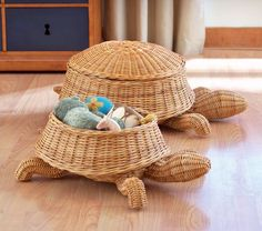 Small Turtle Basket, Honey