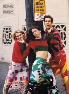 Reaching Nirvana - Mademoiselle Magazine November 1993 Kurt Cobain wearing a Dries Van Noten sweater. Dave Grohl in a Todd Oldham sweater. Krist Novoselic in a Joan Vass sweater. All scarves (shown as skirts) by Gene Meyer. Eddie Vedder, Dave Grohl, Jimi Hendrix, Montage Of Heck, Mademoiselle Magazine, Music Rock, Reggae Music, Pop Music, Scott Weiland