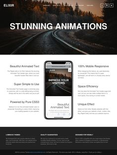 Elixir – animation Animation Types, Text Animation, Mobile Responsive, Pure Products