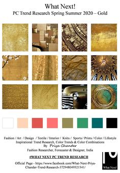 #Gold #goldart #SS2020 #golden #springsummer2020 #fashionforecasting #NYFW #LFW #PFW #MFW #fashionweek #fashionforecast #fashiontrends #metal #floralprint #menswear #textiles #womenswear #kidswear #textileart #colorforecast #homedecor #fashionindustry #fashionresearch #trendsetter #fashioninfluencer #moodboard #fashiondesigner #forecasting #floralpaintings #fashionfabrics #couture #prints #ADcampaign #interiors #fashiontrends #colorforecast