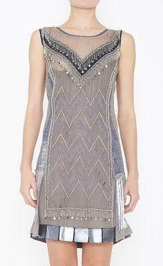 Philosophy di Alberta Ferretti Grey, Silver And Multicolor Dress | VAUNTE