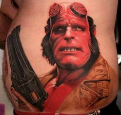 Hellboy Tattoo  - http://tattootodesign.com/hellboy-tattoo/  |  #Tattoo, #Tattooed, #Tattoos