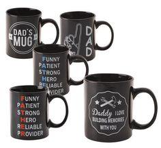 Mug Occasions Dad Black/Blue Hero Funny P, Dad Mug, Daddy, Hero, Mugs, Tableware, Classic, Blue, Derby