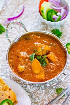 Yogurt Chicken Curry - The chicken curry from Northern India which is must try for every Indian food lover. This flavorful curry has no sugars, no nuts, no creams but a simple and flavorful Indian mother sauce base made with yogurt, onion, garlic and spices
