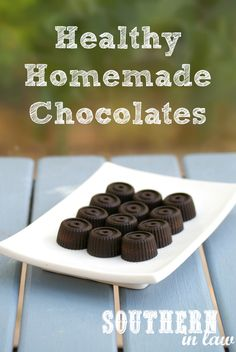 Healthy Homemade Chocolates with just three ingredients and no fancy equipment needed. Using just coconut oil, coconut sugar and cocoa, these healthy homemade chocolates are gluten free, vegan, dairy free, clean eating friendly and refined sugar free!