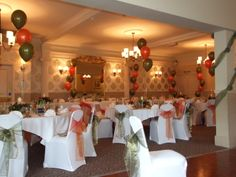 Lion and Swan Hotel, Congleton - wedding colour scheme was olive green and orange with a country fayre theme