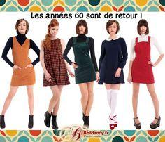Les années 60 sont de retour ! Découvrez notre collection de robes chaussures et accessoires qui vous ramèneront dans les années Yéyé !!  http://www.belldandy.fr/votre-style-look/retro-60-s-yeye-mod-groovy.html https://www.facebook.com/belldandy.fr/photos/a.338099729399.185032.327001919399/10154869835324400/?type=3