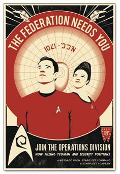 Red Shirt Recruitment STAR TREK Poster by Steve Thomas