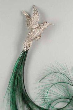 Art Déco - Epingle à Chapeau - Oiseau de Paradis - Van Cleef and Arpels - Années 20