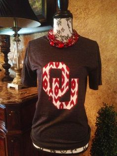 WANT ♡♡♡♡ Hey, I found this really awesome Etsy listing at http://www.etsy.com/listing/166530915/ou-ikat-womens-tee