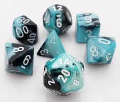 Get rolling with Gemini Dice (Black and Shell). This RPG dice set has all your...