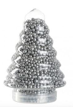 Leonardo kerstboom glitterparels zilver 500 gram