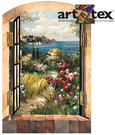 Garden by the Sea depicts a path winding through flowers down to the ocean.
