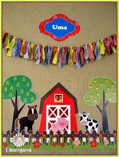 Cumpleaños granja Orange Things orange y games 2019 Farm Birthday Cakes, 2nd Birthday Party Themes, Farm Animal Birthday, Baby Birthday, Farm Themed Party, Farm Party, Farm Animal Crafts, Crafts For Kids, Orange Things