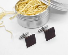 Wenge Wood Cufflinks, Elegant Outfit, Man Stylish Accessory, Gift for Him, Wedding Gift Gifts For Father, Gifts For Him, Wenge Wood, Tin Boxes, Elegant Outfit, Groomsmen, Natural Beauty, Wedding Gifts, I Shop