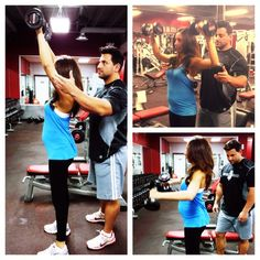 Danielle Jonas: My belly! and my muscles getting big with Anthony Michael!!! @cupps27 and @Cupps27  #preggoproblems