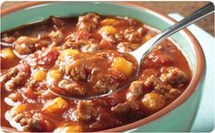 Get ready to stir up red-hot flavor with our traditional, Southern Style Chili; a hearty, heart-warming American favorite. Chili Recipes, Crockpot Recipes, Soup Recipes, Cooking Recipes, Better Than Bouillon Recipe, Baked Onions, Southern Recipes, Southern Food, Chicken And Dumplings