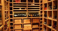 Cave à vin sur mesure en chêne naturel - Londres 2008