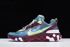 8cbaa4359a23 Undercover x Nike React Element 87 Blue Gold Purple White AQ1813-001 Free  Shipping