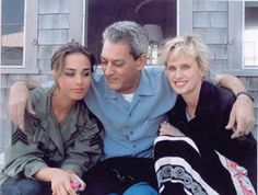 Paul Auster, his daughter, Sophie (actress and singer) and his wife, Siri Hustvedt (also a writer).