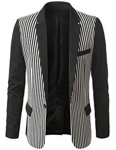 IDARBI Mens Two-Tone Color Block Striped Blazer Jacket, http://www.amazon.com/dp/B00LOXPN40/ref=cm_sw_r_pi_awdm_el-Tvb0A229G9