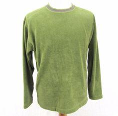 Patagonia Rhythm Sweater Medium Green Soft Blanket Fleece Crewneck Pullover Coat #Patagonia #FleeceJacket