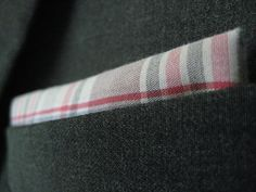 DIY pocket square out of an old oxford shirt