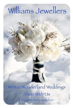 Winter Wonderland Weddings are beautiful! Shop with us. #williamsjewellerstoronto