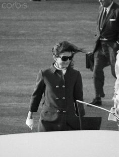 Jackie Kennedy, 1968, headed for Los Angeles, after the shooting of her brother-in-law, Robert Kennedy.