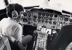 xDave in cockpit of aircraft taking the group to Leeds in 1964