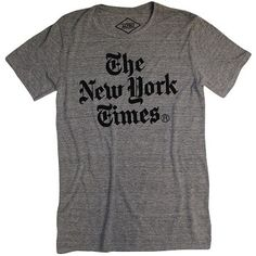 New York Times Stacked Logo Gray T-Shirt