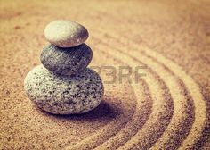 giapponesi: Giardino giapponese Zen stone Archivio Fotografico
