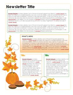 Free Teacher Newsletter Templates Downloads | Newsletter Templates in Microsoft Word format | Certificate Street ...