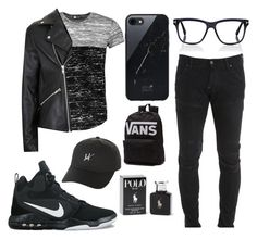 """👍🏼♠️🐵"" by emma-emma14 ❤ liked on Polyvore featuring Boohoo, G-Star, Topman, NIKE, Native Union, Tom Ford, HUF, Vans, Ralph Lauren and men's fashion"