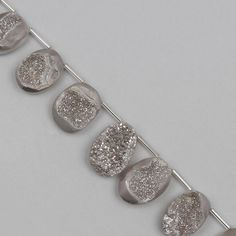 This beautiful Grey Colour Coated Druzy Elongated Fancy Ovals strand will inspire you to create an amazing collection. Gray Color, Colour, Jewellery Making, Druzy Ring, Fancy, Gemstones, Grey, Coat, Rings